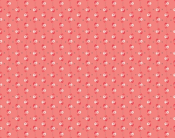 AUTUMN LOVE by Lori Holt for Riley Blake -  C7363 Leaves Coral - 1/2 yd Increments, Cut Continuously OR Fat Quarter