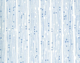 Cottage Bleu by Robin Pickens for Moda -  48694-11 Broken Lines Cream - 1/2 yd Increments, Cut Continuously OR Fat Quarter