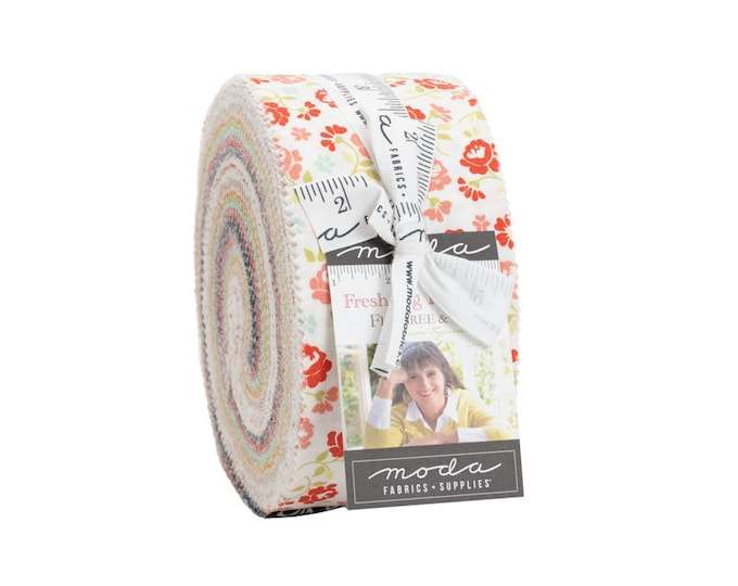 """FRESH FIG Favorites by Fig Tree Quilts & Co. for Moda -  Jelly Roll - 40 pieces - 2.5"""" Strips"""