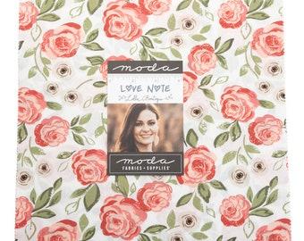 "Love Note by Lella Boutique for Moda -  10"" Layer Cake - Precut 10"" x 10"" Squares - 42 pieces"