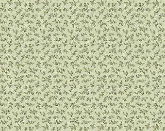 ANNE of GREEN GABLES by Riley Blake -  C10603 Floral - Sage - 1/2 yd Increments or Fat Quarters, Cut Continuously