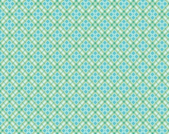 AUTUMN LOVE by Lori Holt for Riley Blake -  C7364 Plaid Blue - 1/2 yd Increments, Cut Continuously OR Fat Quarter