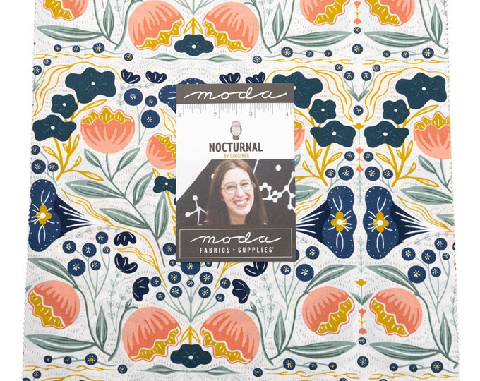 """NOCTURNAL by Gingiber for Moda -  10"""" Layer Cake - Precut 10"""" x 10"""" Squares - 42 pieces"""