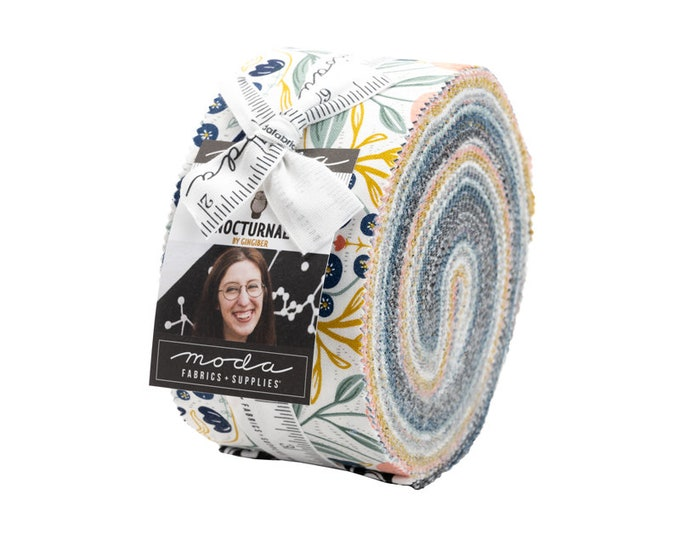"""NOCTURNAL by Gingiber for Moda -  Jelly Roll - 40 pieces - 2.5"""" Strips"""