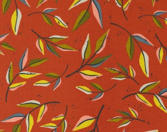 Songbook by Fancy That Design House for Moda  45523-21 Leaf Dream Floral Branch Sweet Marmalade  Continuous 1/2 yd Increments OR Fat Quarter