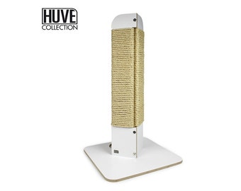 FREE SHIPPING- modern white scratching post corner by Huve collection
