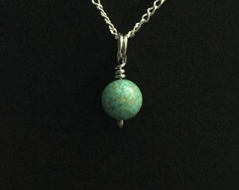 Tiny Turquoise Charm Necklace