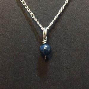 2.89 Carat Kyanite Necklace. Natural Kyanite Pendant Necklace Sri Lankan Kyanite SGL Certified Kyanite Necklace