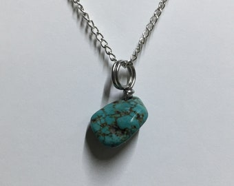 Wire Wrapped Magnesite Nugget Necklace