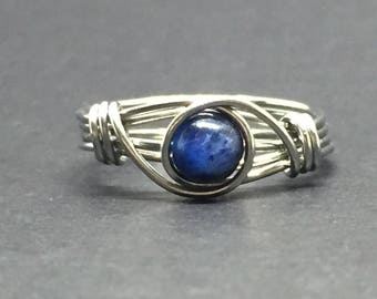 Kyanite Wire Wrapped Ring