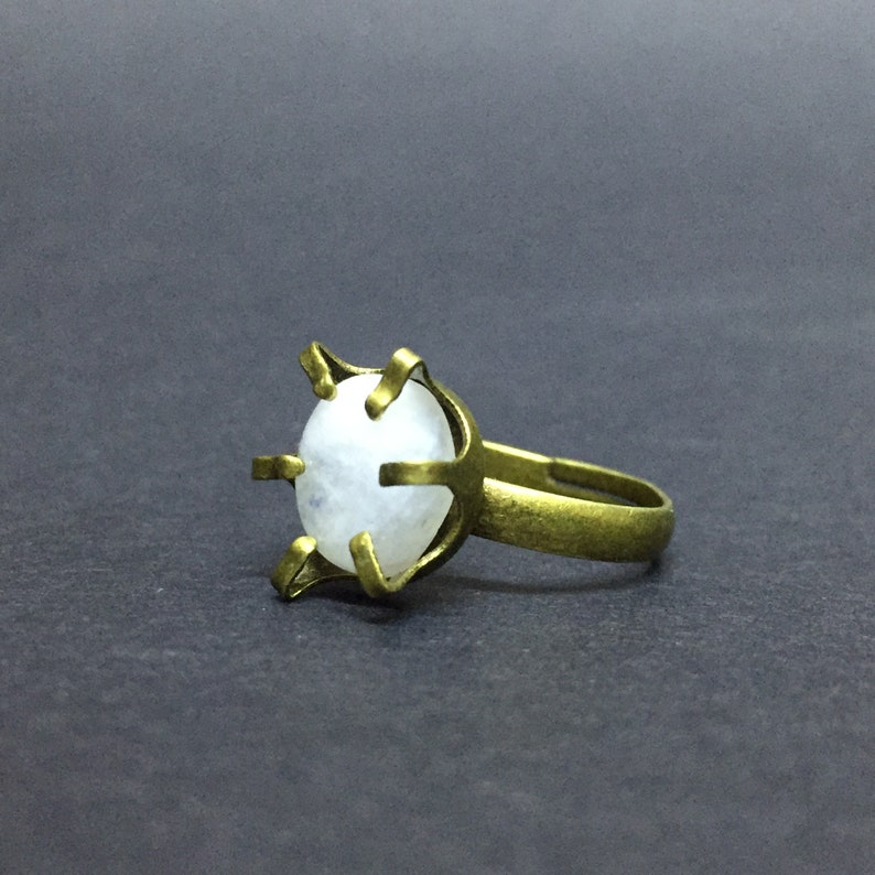 Adjustable Ring Moonstone Ring