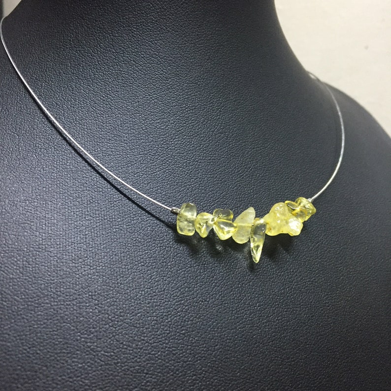 Stone Chip Necklace Stone Chip Bar Necklace. Stone Necklace Stone Bar Necklace Citrine Chip Necklace Natural Citrine Necklace