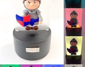 LED Night light on base, 7 colors, knight, USB plug in or battery, knight Fimo, knight night light