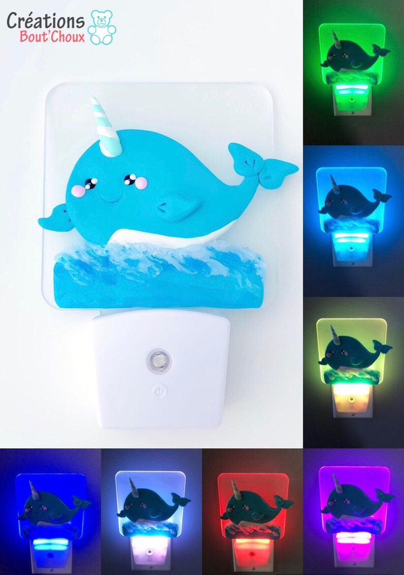 Narwhal Colourful Neon Light