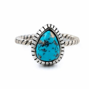 Aquatic Morenci Turquoise Rope-Banded Ring by Kingdom