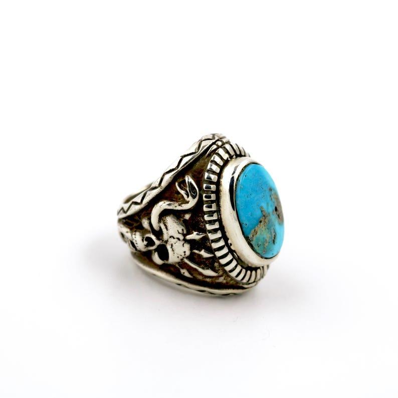 Black Mountain Ring w Blue Ridge Turquoise by Turquoise Kingdom