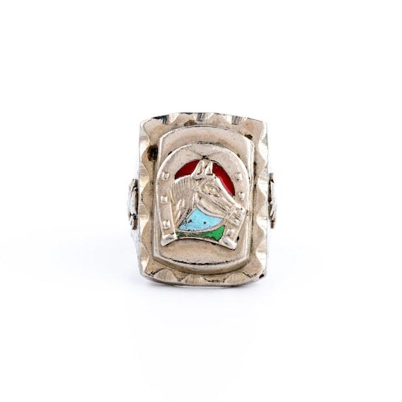 "Silvertone 1940's ""Colt"" Mexican Biker Ring"