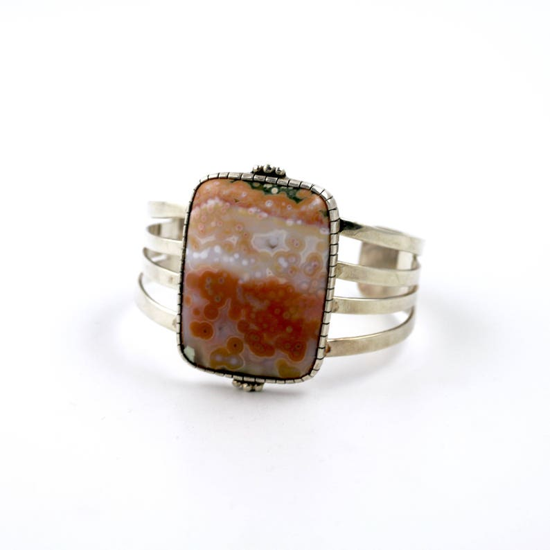 Pastel Ocean Jasper Cuff Bracelet by Turquoise Kingdom