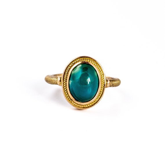 Twin Rope Blue Ridge Turquoise Ring by Kingdom