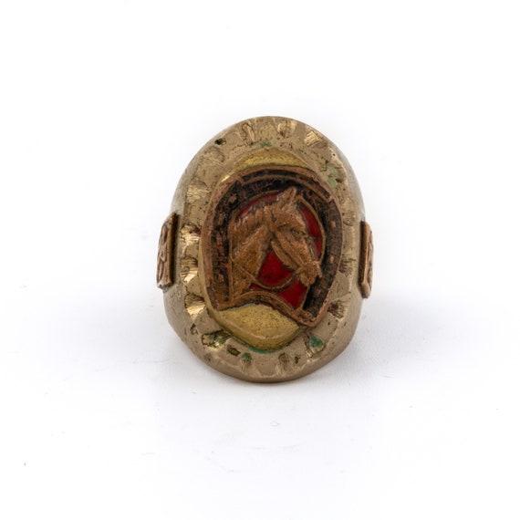 "Bronze Mexican ""Colts"" Biker Ring"