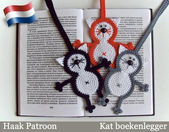 069nly Kat Boekenlegger Of Decoratie Amigurumi Haak Patroon Etsy