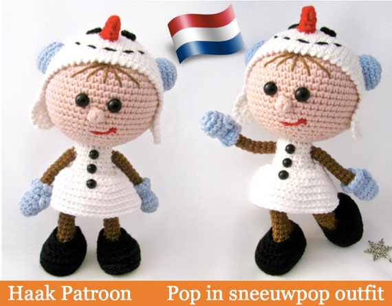 130nly Haak Patroon Pop In Sneeuwpop Outfit Amigurumi Pdf Etsy