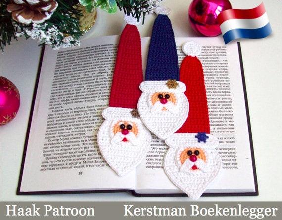 168nly Haak Patroon Kerstman Decoratie Of Boekenlegger Etsy