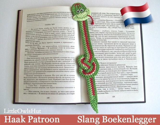 014nly Slang Boekenlegger Amigurumi Haakpatroon Pdf By Etsy