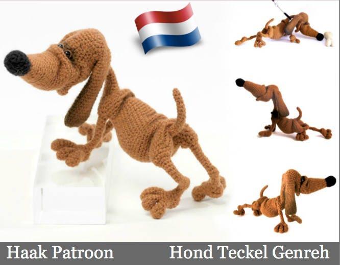 134nly Haak Patroon Hond Teckel Genreh Amigurumi Pdf File By Etsy