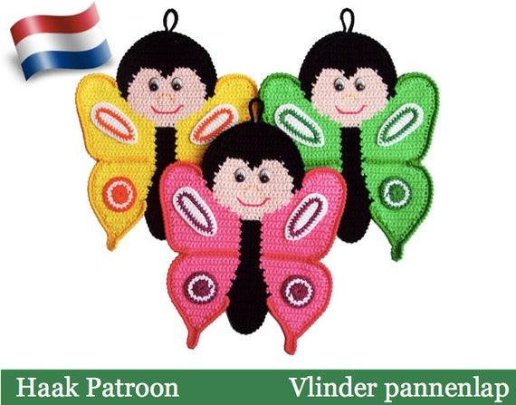 145nly Haak Patroon Vlinder Decoratie Of Pannenlap Etsy