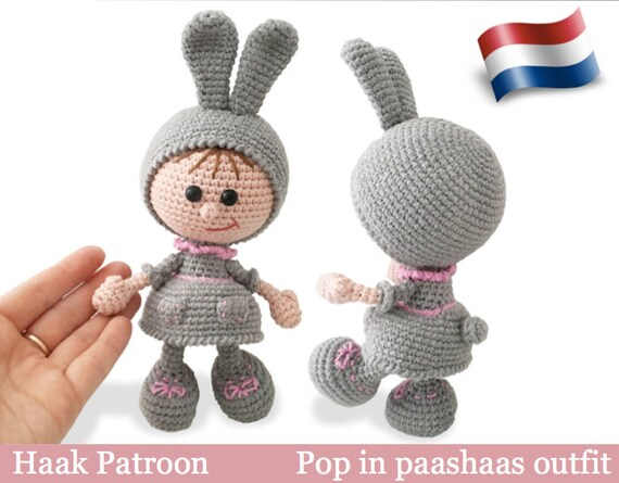 190nly Haak Patroon Pop In Paashaas Rabbit Outfit Etsy