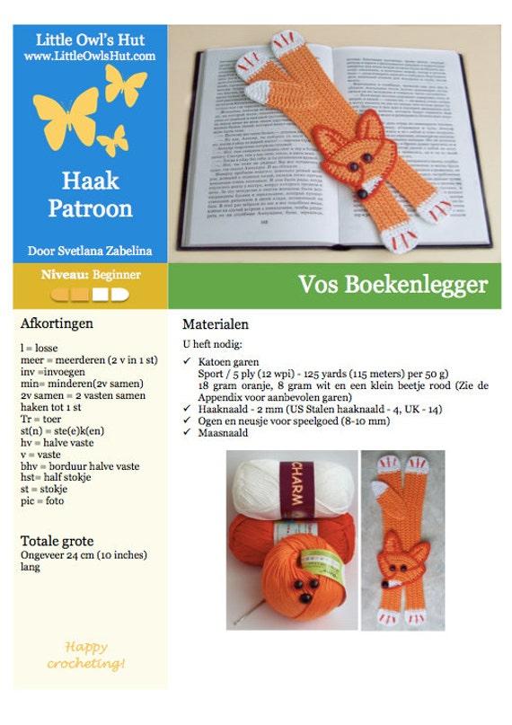 011nly Vos Boekenlegger Amigurumi Haak Patroon Pdf File By Etsy
