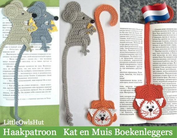 024nly Kat En Muis Boekenleggers Amigurumi Haakpatroon Etsy