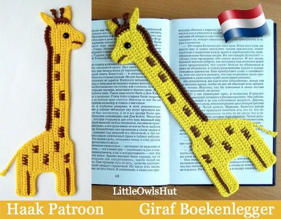 045nly Giraf Boekenlegger Amigurumi Haakpatroon Pdf By Etsy