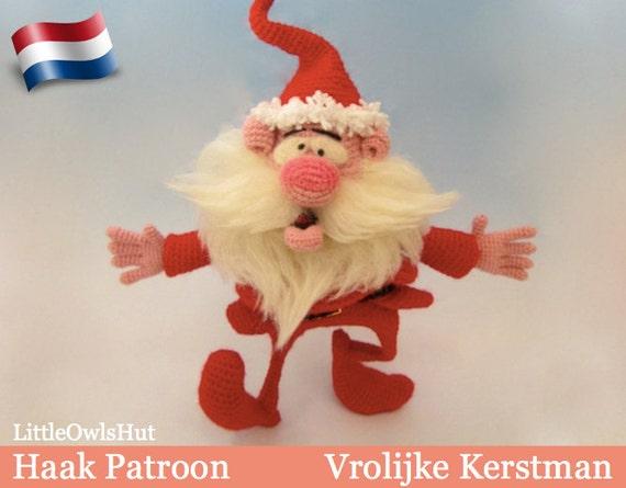 057nly Vrolijke Kerstman Amigurumi Haakpatroon Pdf By Etsy