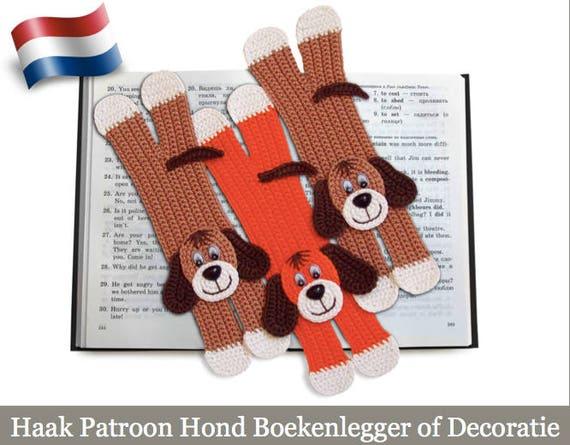 160nly Haak Patroon Dog Boekenlegger Amigurumi Haak Etsy