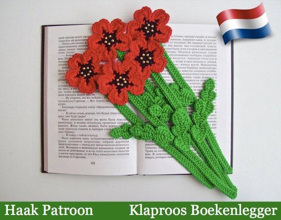 075nly Klaproos Boekenlegger Of Decoratie Amigurumi Etsy