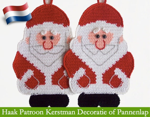 039nly Kerstman Haak Patroon Decoratie Of Pannenlap Door Etsy