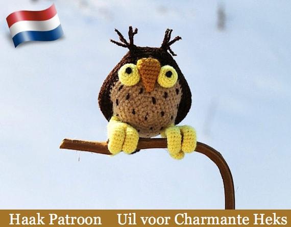 083nly Uil Voor Charmante Heks Haak Patroon Pdf File Amigurumi By Astashova Etsy