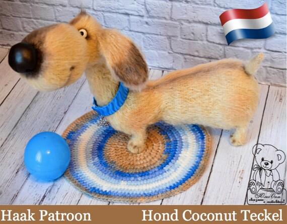 170nly Haakpatroon Hond Teckeldachshund Coconut Amigurumi Etsy