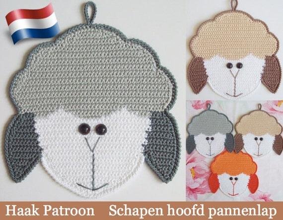 076nly Schapen Hoofd Decoratie Of Pannenlap Haak Patroon Pdf Etsy