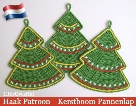 087nly Kerstboom Decoratie Pannenlap Amigurumi Haak Patroon Etsy