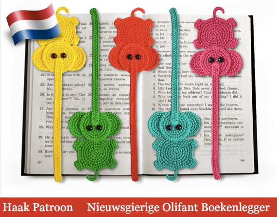 142nly Haak Patroon Olifant Decoratie Of Boekenlegger Etsy