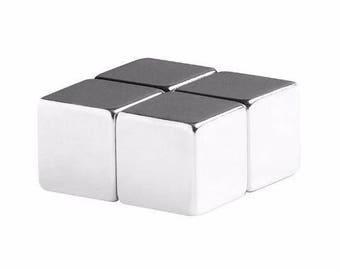 1/2 pouce néodyme N48 d'aimants de terre Rare Cube (4 Pack)