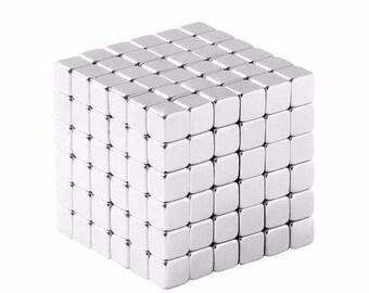 1/8 de pouce néodyme N48 d'aimants de terre Rare Cube (216 Pack)