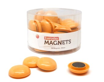 totalElement All-Purpose Chore Refrigerator Magnets, 50 per container (Orange) - Fridge Magnets
