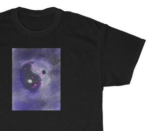 Ying Yang Purple  Original Abstract Art Unisex Shirt