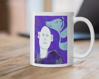 strange dreams - Original Abstract Art Coffee Mug