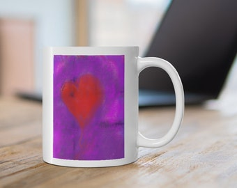 heart - Original Abstract Art Coffee Mug
