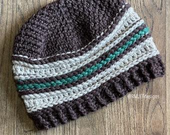 hemp and wool slouchy beanie hat
